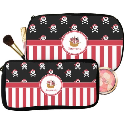Pirate & Stripes Makeup / Cosmetic Bag (Personalized)