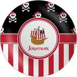 "Pirate & Stripes Melamine Plate - 8"" (Personalized)"