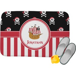 Pirate & Stripes Memory Foam Bath Mat (Personalized)