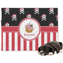 Pirate & Stripes Minky Dog Blanket - Regular (Personalized)