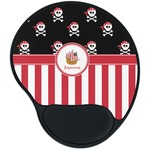 Pirate & Stripes Mouse Pad with Wrist Support