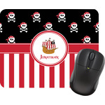 Pirate & Stripes Mouse Pad (Personalized)