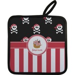 Pirate & Stripes Pot Holder (Personalized)