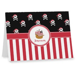 Pirate & Stripes Notecards (Personalized)