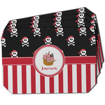 Pirate & Stripes Dining Table Mat - Octagon w/ Name or Text