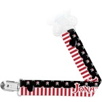 Pirate & Stripes Pacifier Clips (Personalized)
