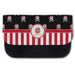 Pirate & Stripes Canvas Pencil Case w/ Name or Text