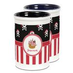 Pirate & Stripes Ceramic Pencil Holder - Large