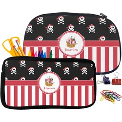 Pirate & Stripes Pencil / School Supplies Bag (Personalized)