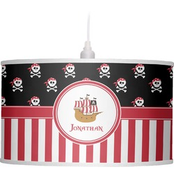 Pirate & Stripes Drum Pendant Lamp (Personalized)