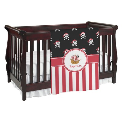 Pirate & Stripes Baby Blanket (Personalized)