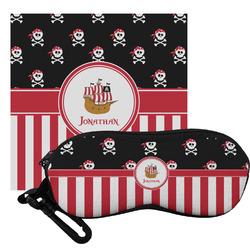 Pirate & Stripes Eyeglass Case & Cloth (Personalized)