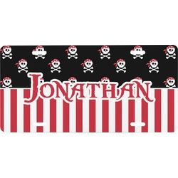 Pirate & Stripes Front License Plate (Personalized)