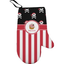 Pirate & Stripes Right Oven Mitt (Personalized)