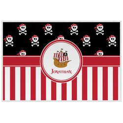 Pirate & Stripes Laminated Placemat w/ Name or Text