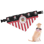 Pirate & Stripes Dog Bandana (Personalized)