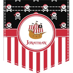 Pirate & Stripes Iron On Faux Pocket (Personalized)