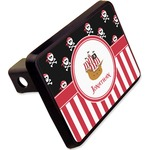 """Pirate & Stripes Rectangular Trailer Hitch Cover - 2"""" (Personalized)"""