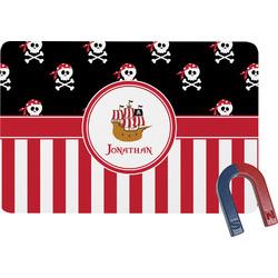 Pirate & Stripes Rectangular Fridge Magnet (Personalized)