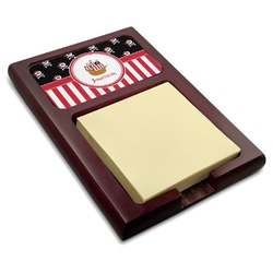 Pirate & Stripes Red Mahogany Sticky Note Holder (Personalized)