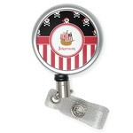 Pirate & Stripes Retractable Badge Reel (Personalized)