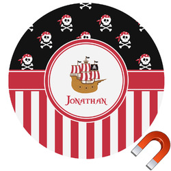 Pirate & Stripes Car Magnet (Personalized)