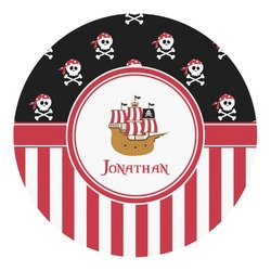 Pirate & Stripes Round Decal (Personalized)