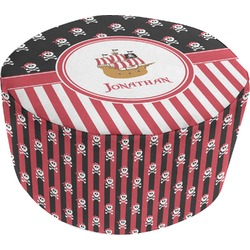 Pirate & Stripes Round Pouf Ottoman (Personalized)