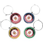 Pirate & Stripes Wine Charms (Set of 4) (Personalized)