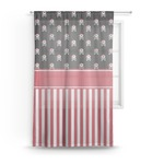 Pirate & Stripes Sheer Curtains (Personalized)