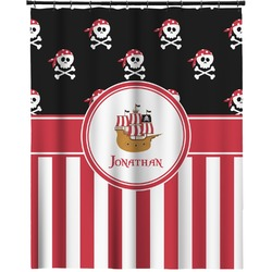 """Pirate & Stripes Extra Long Shower Curtain - 70""""x84"""" (Personalized)"""