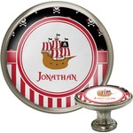 Pirate & Stripes Cabinet Knob (Silver) (Personalized)