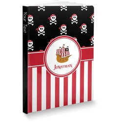 Pirate & Stripes Softbound Notebook (Personalized)