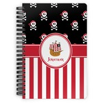 Pirate & Stripes Spiral Bound Notebook (Personalized)