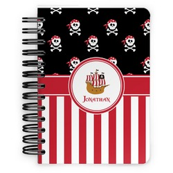 Pirate & Stripes Spiral Bound Notebook - 5x7 (Personalized)
