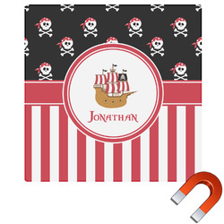 Pirate & Stripes Square Car Magnet (Personalized)