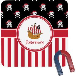 Pirate & Stripes Square Fridge Magnet (Personalized)