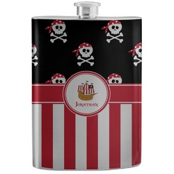 Pirate & Stripes Stainless Steel Flask (Personalized)