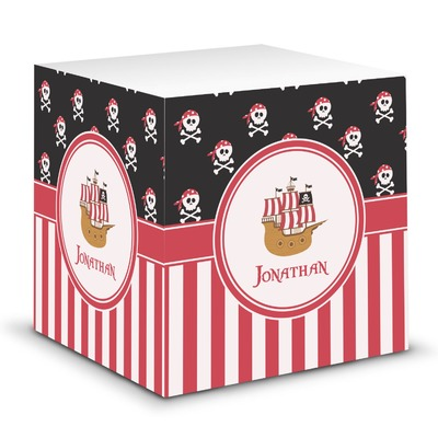 Pirate & Stripes Sticky Note Cube (Personalized)