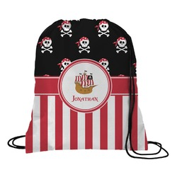 Pirate & Stripes Drawstring Backpack (Personalized)
