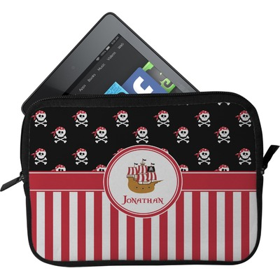 Pirate & Stripes Tablet Case / Sleeve - Small (Personalized)