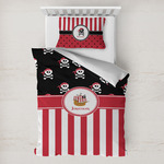 Pirate & Stripes Toddler Bedding Set w/ Name or Text