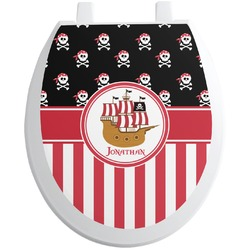 Pirate & Stripes Toilet Seat Decal (Personalized)