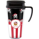 Pirate & Stripes Travel Mug with Handle (Personalized)