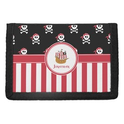 Pirate & Stripes Trifold Wallet (Personalized)