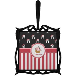 Pirate & Stripes Trivet with Handle (Personalized)