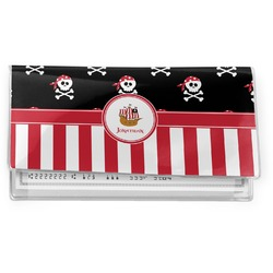 Pirate & Stripes Vinyl Checkbook Cover (Personalized)