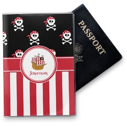 Pirate & Stripes Vinyl Passport Holder (Personalized)