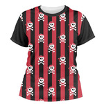 Pirate & Stripes Women's Crew T-Shirt (Personalized)