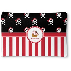Pirate & Stripes Zipper Pouch (Personalized)